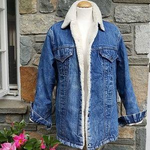 Levi's vintage sherpa long jean jacket